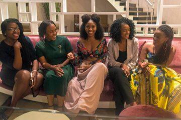 Left to right, Tatenda Gutu (Zimbabwe), Akinwande Toluwa (Nigeria), Makhotso Michelle Maiko (South Africa), Sandra Chirara (Zimbabwe) Samira Isimbi (Rwanda)