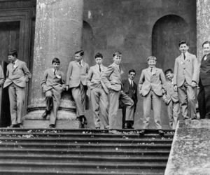 New boys on the South Portico, 11 May 1923