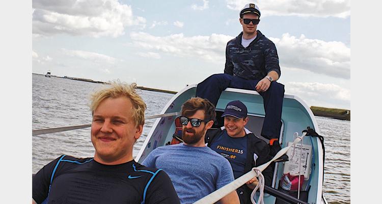 The Nauti Buoys on the water