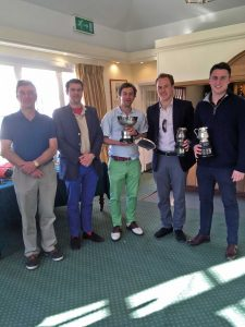 Spring Meeting Winners: Angus Campbell, Charlie Saunders, Josh Wheeler and Freddie Elliott