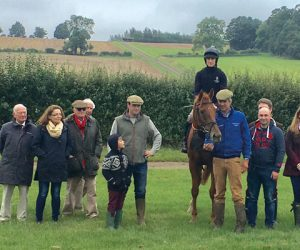 Topper Thornton with Old Stoic Racing Club members