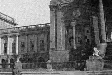 South Front shattered windows, May 1941