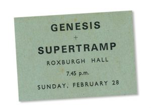 Memories of Supertramp & Genesis at Stowe